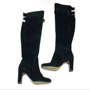 Sam Edelman 6.5 Black Leather Suede KneeHigh Boots